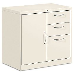 Flagship File Center wBookcase & BoxFile Pedestal 30w x 18d x 28h Light Gray (HONFC1830DBALQ)