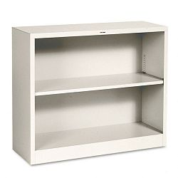 Metal Bookcase 2 Shelves 34-12w x 12-58d x 29h Putty (HONS30ABCL)
