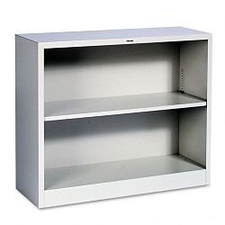 Metal Bookcase 2 Shelves 34-12w x 12-58d x 29h Light Gray (HONS30ABCQ)
