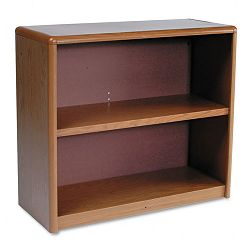 Value Mate Series Bookcase 2 Shelves 31-34w x 13-12d x 28h Medium Oak (SAF7170MO)