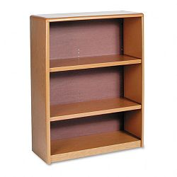 Value Mate Series Bookcase 3 Shelves 31-34w x 13-12d x 41h Medium Oak (SAF7171MO)