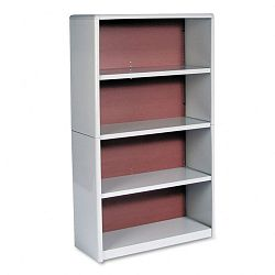 Value Mate Series Bookcase 4 Shelves 31-34w x 13-12d x 54h Gray (SAF7172GR)