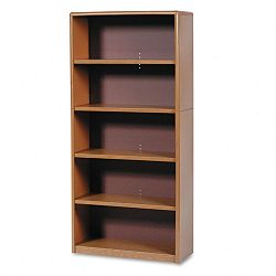 Value Mate Series Bookcase 5 Shelves 31-34w x 13-12d x 67h Medium Oak (SAF7173MO)