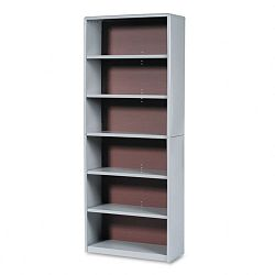 Value Mate Series Bookcase 6 Shelves 31-34w x 13-12d x 80h Gray (SAF7174GR)
