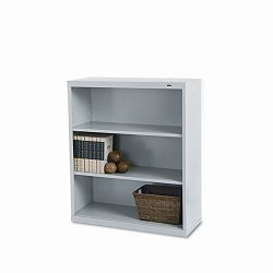 Metal Bookcase 3 Shelves 34-12w x 13-12d x 40h Putty (TNNB42PY)