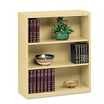 Metal Bookcase 3 Shelves 34-12w x 13-12d x 40h Sand (TNNB42SD)