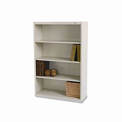 Metal Bookcase 4 Shelves 34-12w x 13-12d x 52-12h Putty (TNNB53PY)