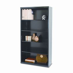 Metal Bookcase 5 Shelves 34-12w x 13-12d x 66h Black (TNNB66BK)