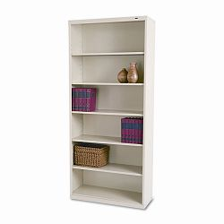 Metal Bookcase 6 Shelves 34-12w x 13-12h x 78h Putty (TNNB78PY)