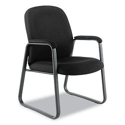 Genaro Guest Chair Black Fabric Sled Base (ALEGE43FC10B)