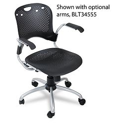Circulation Series Task Chair Black 25 x 23-34 x 37-34 (BLT34552)