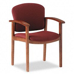 2111 Invitation Series Wood Guest Chair Burgundy FabricMedium Oak (HON2111MAB62)