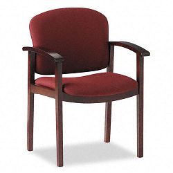 2111 Invitation Series Wood Guest Chair Burgundy FabricMahogany (HON2111NAB62)