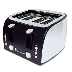 4-Slice Multi-Function Toaster with Adjustable Slot Width BlackStainless Steel (OGFOG8166)