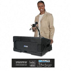 Amplipod Portable Podium PA System 50-Watt Multimedia Amplifier w3 Mic Inputs (APLS124)