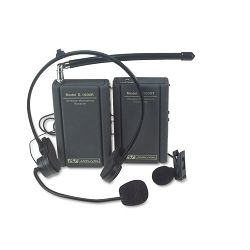 Wireless Lapel Microphone Kit Two Frequencies 300 ft. Range (APLS1600)
