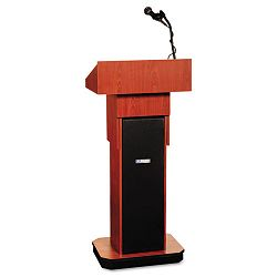 Executive Adjustable Sound Column Lectern 21w x 15d x 46-12h Mahogany (APLS505AMH)