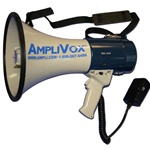 MightyMeg Piezo Dynamic Megaphone wDetachable Microphone 25W 1 Mile Range (APLS602M)