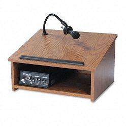 Sound System Tabletop Lectern 24w x 20d x 14h Medium Oak (APLSW250OK30)