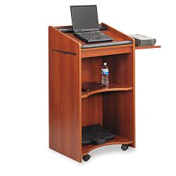 Executive Mobile Lectern 25-14w x 19-34d x 46h Cherry (SAF8918CY)