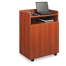 Executive Mobile Presentation Stand 29-12w x 20-12d x 40-34h Cherry (SAF8919CY)