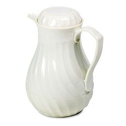 Poly Lined Carafe Swirl Design 64 oz. Capacity White (HOR402264)