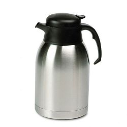 Stainless Steel Lined Vacuum Carafe 1.9 Liter Satin FinishBlack Trim (HORSVC190)