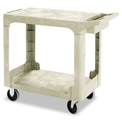Flat Shelf Utility Cart 2-Shelf 19-316w x 37-78d x 33-13h Beige (RCP450500BG)