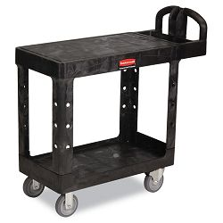 Flat Shelf Utility Cart 2-Shelf 19w x 38d x 33-13h Black (RCP450500BK)
