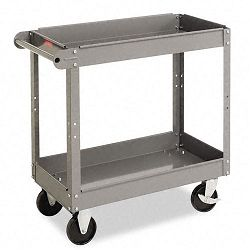 Two-Shelf Metal Cart 2-Shelf 16w x 30d x 32h Gray (TNNSC1630)