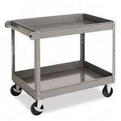 Two-Shelf Metal Cart 2-Shelf 24w x 36d x 32h Gray (TNNSC2436)