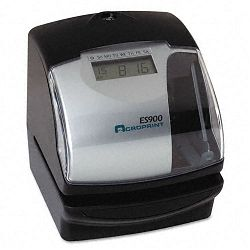 ES900 Digital Automatic Payroll RecorderTime Clock Black (ACP010209000)