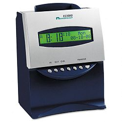 ES1000 Totalizing Digital Automatic Payroll RecorderTime Clock Blue and Silver (ACP010215000)
