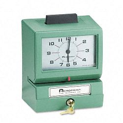 Model 125 Analog Manual Print Time Clock with Date0-12 HoursMinutes (ACP011070400)