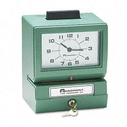 Model 125 Analog Manual Print Time Clock with Date0-23 HoursMinutes (ACP01107040A)