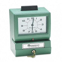 Model 125 Analog Manual Print Time Clock with MonthDate0-12 HoursMinutes (ACP011070411)