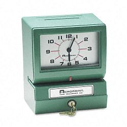 Model 150 Analog Automatic Print Time Clock with MonthDate1-12 HoursMinutes (ACP012070411)
