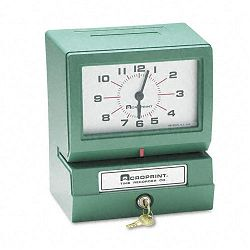 Model 150 Analog Automatic Print Time Clock with MonthDate0-23 HoursMinutes (ACP012070413)