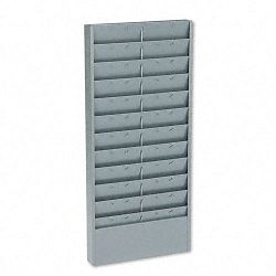 Adjustable 11- Or 22-Pocket Time Card Rack Textured Steel Gray (BDY8011)