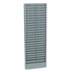 Adjustable 24- 48- Or 72-Pocket Time Card Rack Textured Steel Gray (BDY8051)