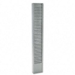 40-Pocket Badge Holder Rack Vertical Recycled Steel Platinum (BDY83632)