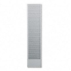 40-Pocket Badge Holder Rack Horizontal Recycled Steel Platinum (BDY83932)