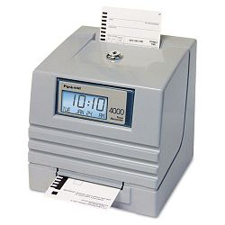 4000 Totalizing Digital Automatic Payroll Time Recorder Gray (PTI4000)