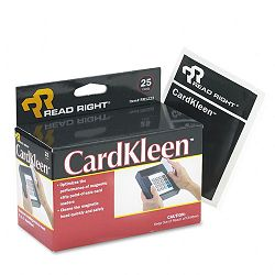 CardKleen Presaturated Magnetic Head Cleaning Cards 25Box (REARR1222)