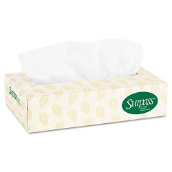 SURPASS 100% Recycled Fiber Facial Tissue 2-Ply 125Box 60 BoxesCarton (KIM21285)