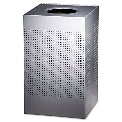 Designer Line Silhouettes Receptacle Steel 29 gal Silver Metallic (RCPSC18EPLSM)