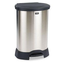Step-On Container Oval Stainless Steel 30 gal Black (RCP614787BK)