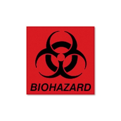 Biohazard Decal 5-34 x 6 Fluorescent Red (RCPBP1)