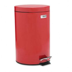 Economical Step Can Round Steel 3 12 gal Red (RCPMST35ERD)