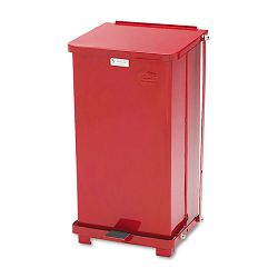 Defenders Biohazard Step Can Square Steel 12 gal Red (RCPST12EPLRD)